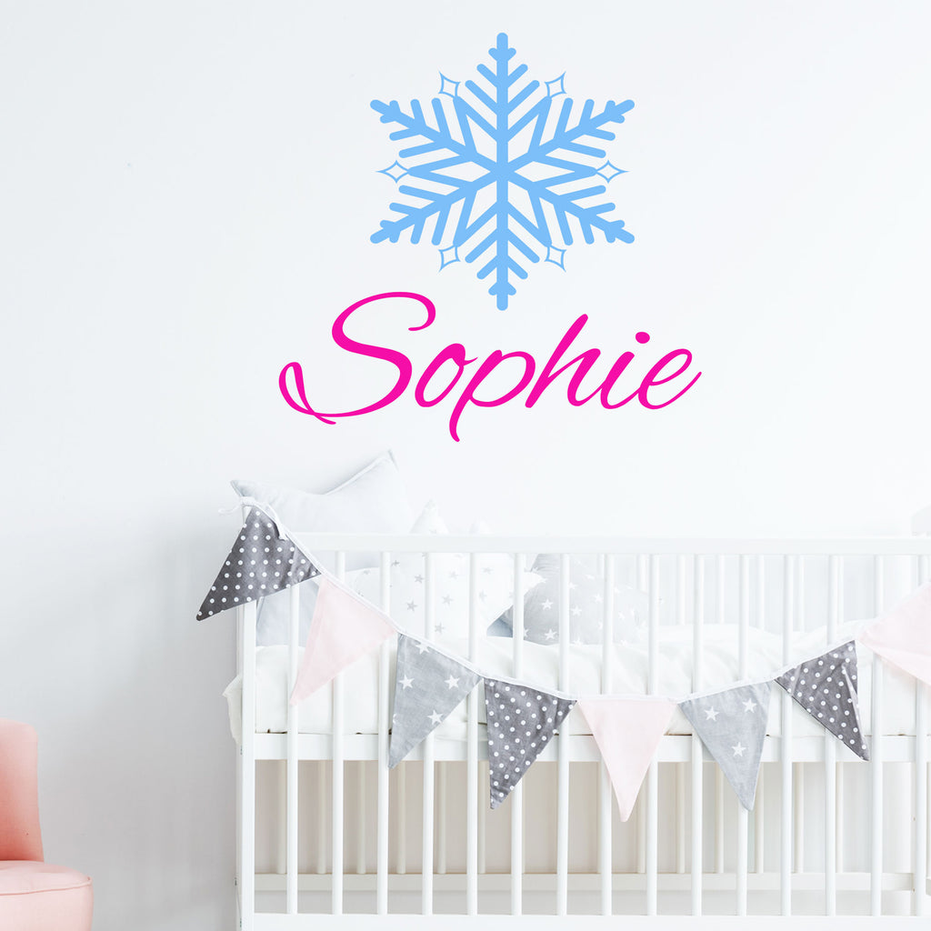 Snowflake Sticker with Girl's Personalised name