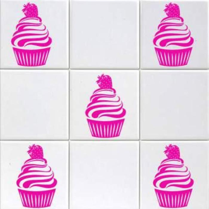 Strawberry Cupcake Wall Stickers Sets