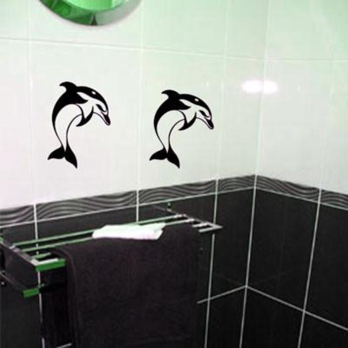 Dolphin Tile Bathroom Wall Art Decal
