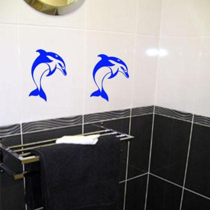 Dolphin Tile transfers Bathroom Wall Art Decal