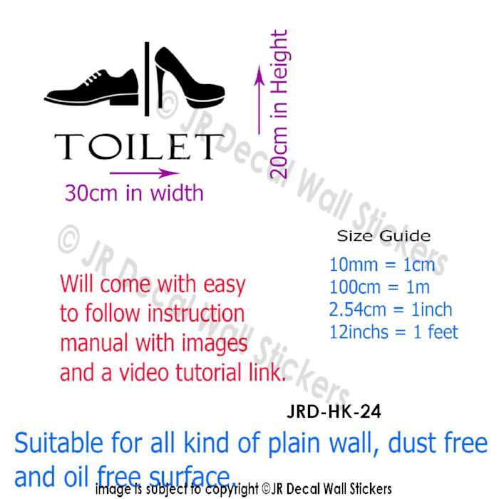 Toilet Entrance Sign Sticker