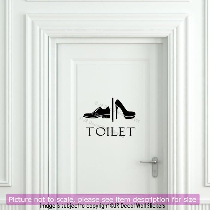 Funny Toilet Entrance Sign Sticker HK24