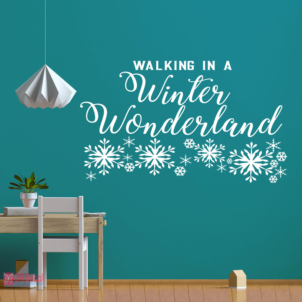 """Winter Wonderland"" Quote Christmas wall decoration"