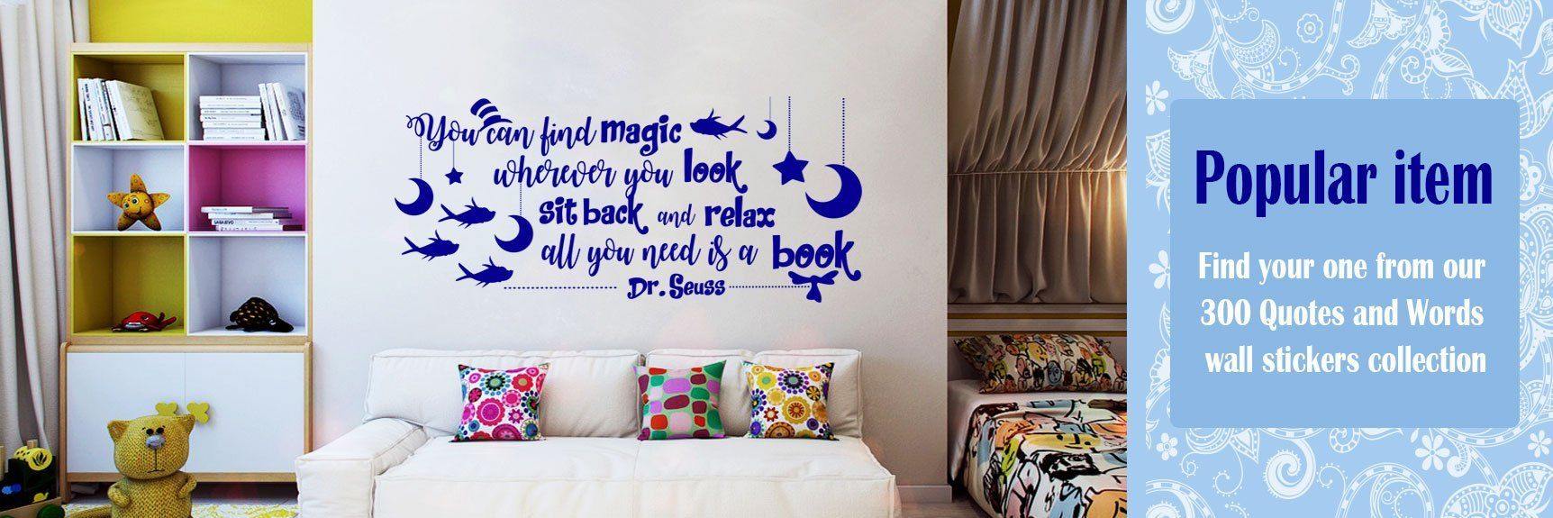 Quotes and word wall art stickers