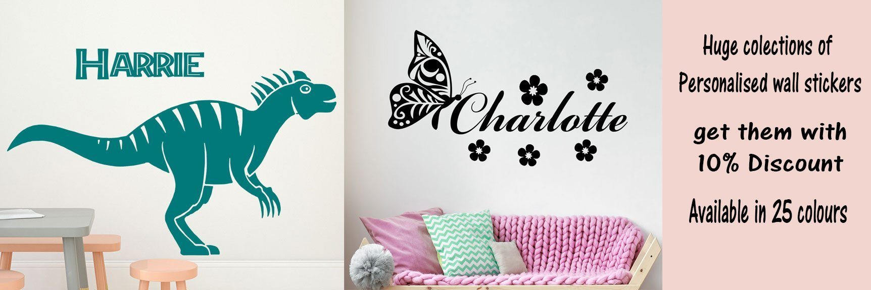 Personalised and custom wall stickers