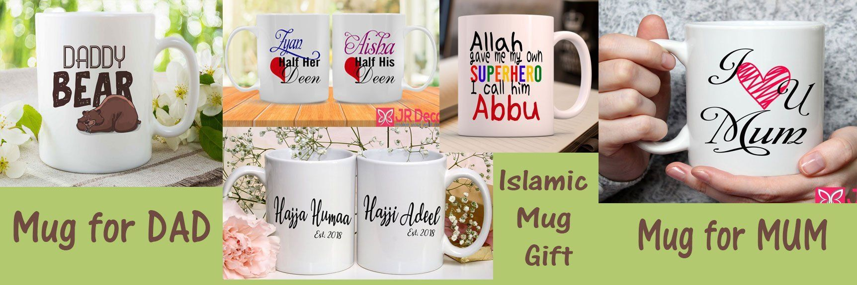 Personalised mugs for DAD, MUM, Islamic Couple gift