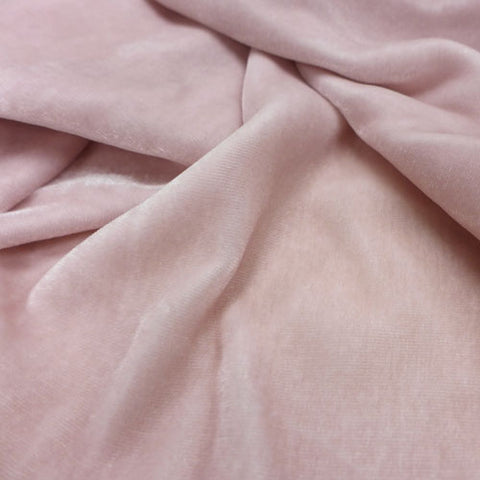Blush Pink - Silk Velvet Fabric