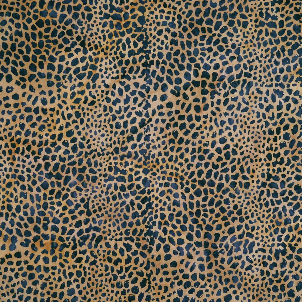Black Giraffe Spots on Beige - Rustic Route - Batik by Mirah Cotton Fabric