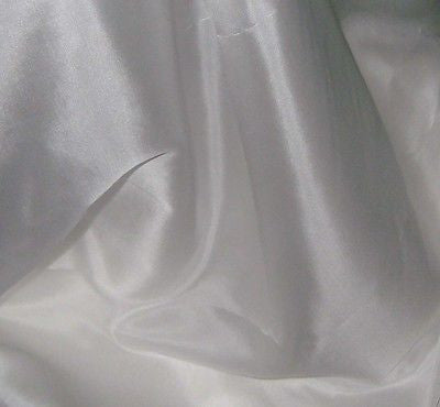 "White - 6mm Silk Habotai (45"")"