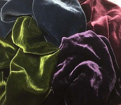 "Victorian Jewels Sample Set - Silk Velvet 1/4 Yard x 45"" Each"