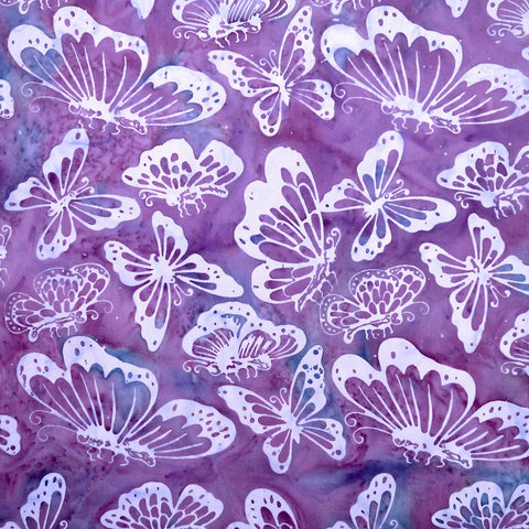 Alba Butterflies - Hens & Chicks - Batik by Mirah Cotton Fabric