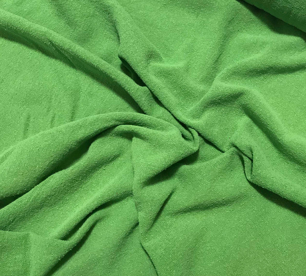 Apple Green - Hand Dyed Poplin Gauze Silk Noil