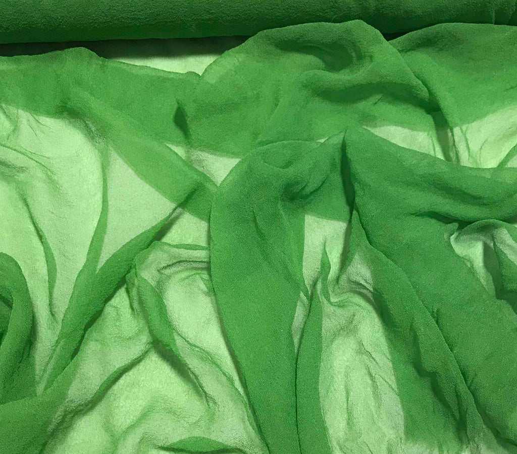 Apple Green - 3mm Hand Dyed Silk Gauze Chiffon