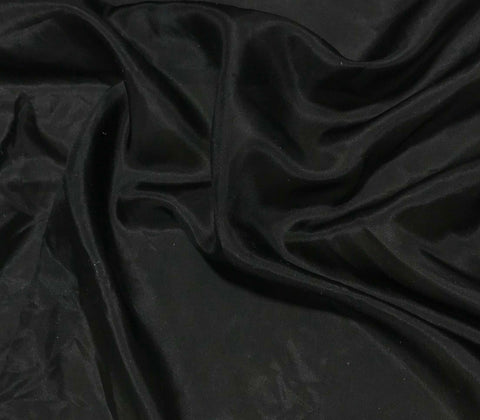 Black - 8mm Silk Habotai
