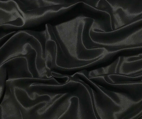 Black - Sandwashed Silk Charmeuse