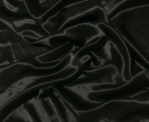 Black - 19mm Silk Charmeuse