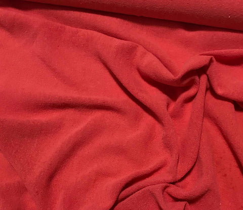 Blood Orange - Hand Dyed Poplin Gauze Silk Noil