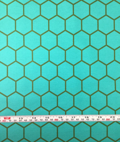 Hex Teal - Blush by Dana Willard for Art Gallery Fabrics - Premium Cotton