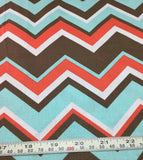 Michael Miller - Chevy Chevron Coral  - Cotton Quilting Fabric