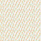 Bunny Trail - Orange Carrots on White - Paintbrush Studio Cotton Fabrics