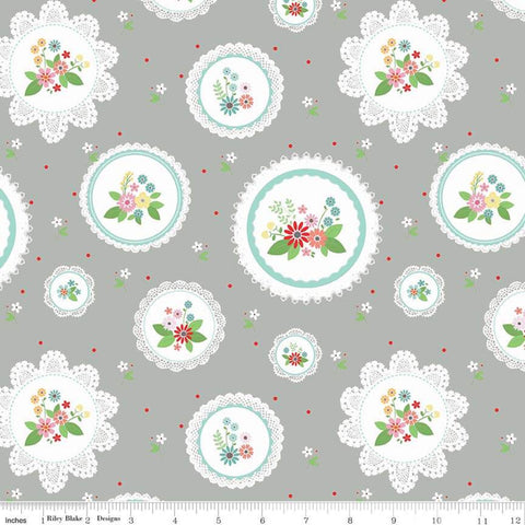 Vintage Keepsakes Main Gray - Riley Blake Cotton Fabric