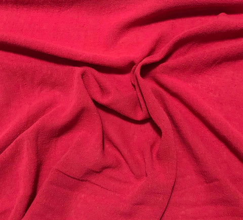 Cherry Red - Hand Dyed Poplin Gauze Silk Noil