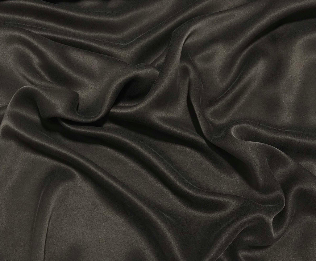 Chocolate Brown - Sandwashed Silk Charmeuse