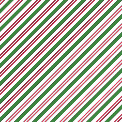 Christmas Joys - Candy Cane Stripe - Maywood Studio Cotton Flannel Fabric