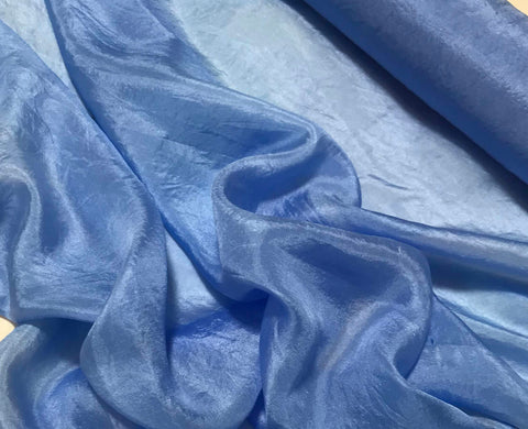 Cornflower Blue - Hand Dyed Silk Habotai