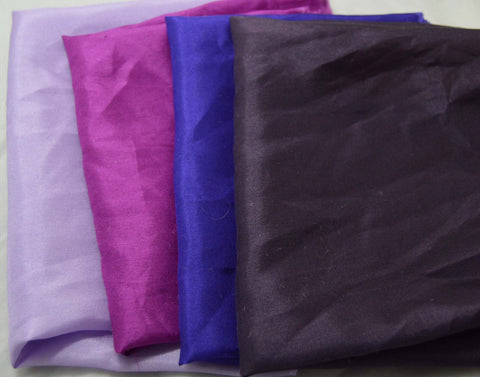 China Silk Habotai Fabric Set - Purples