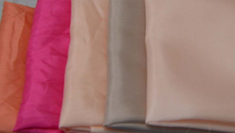 China Silk Habotai Fabric Set - Pinks