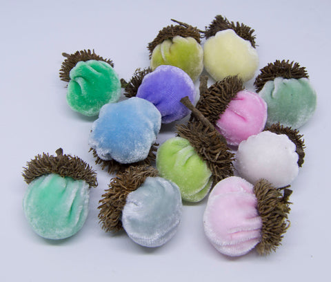 Silk Velvet Acorns Kit - Pastel Colors (12 Acorns) Make Your Own!