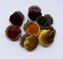 Silk Velvet Acorns Kit - Autumn Colors (7 Acorns) Make Your Own!