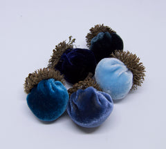 Silk Velvet Acorns Kit - Blue Colors (5 Acorns) Make Your Own!