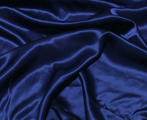 Dark Blue - 19mm Silk Charmeuse
