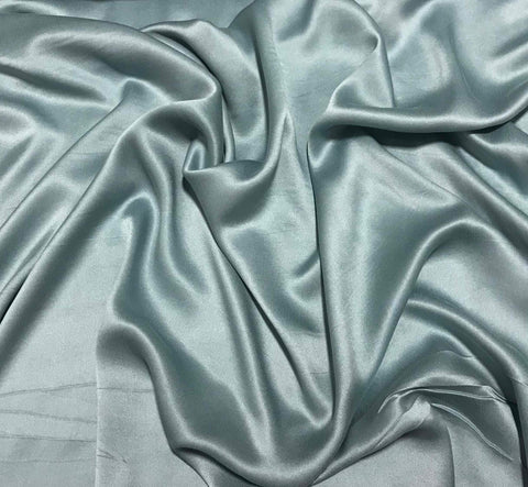 Dusty Blue - Sandwashed Silk Charmeuse