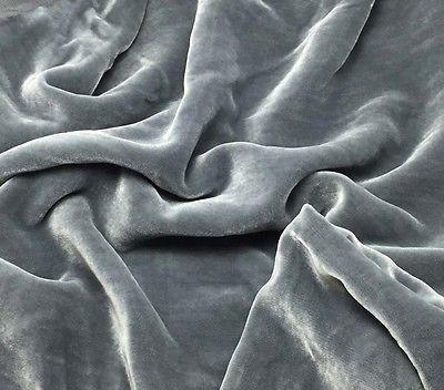 Dyeable Gray (black ground natural pile) - Silk Velvet