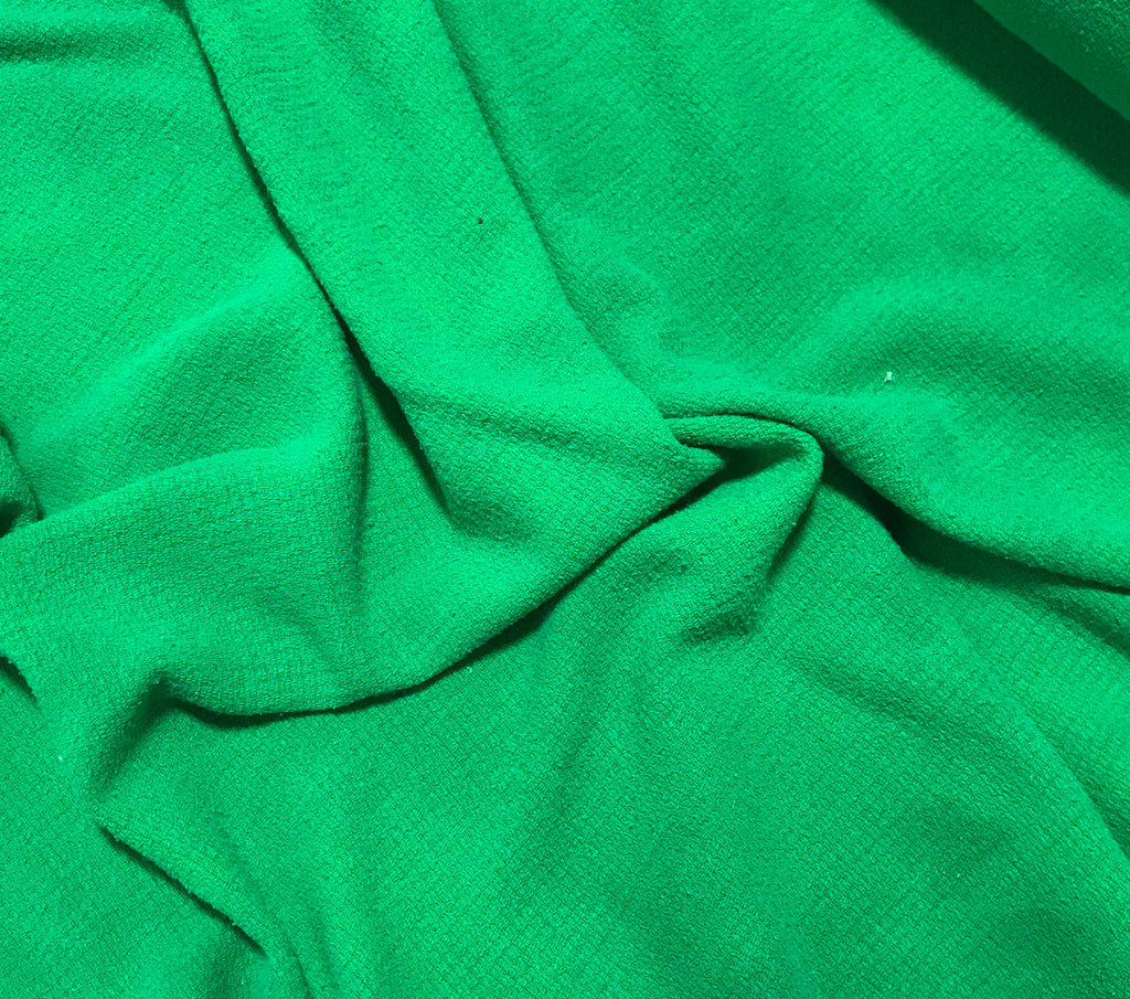 Emerald Green - Hand Dyed Squares Weave Silk Noil