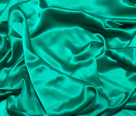 Emerald Green - 19mm Silk Charmeuse