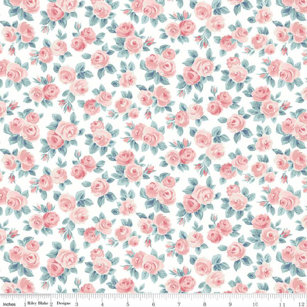Flower Show Spring - Ascot Rose - Liberty of London Cotton Fabric