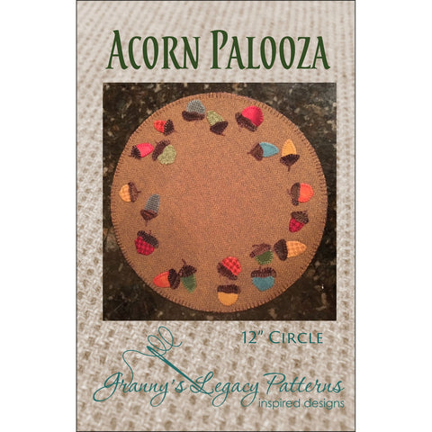Acorn Palooza Mat Applique Pattern