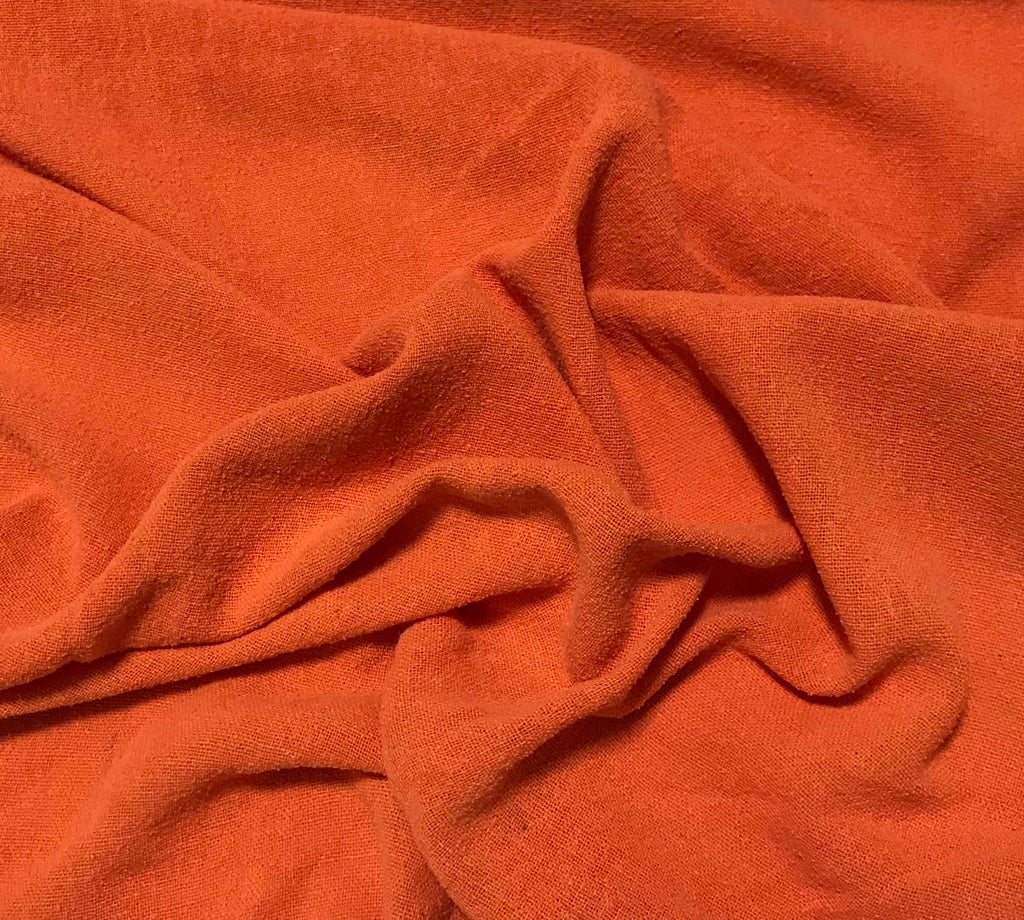 Golden Orange - Hand Dyed Poplin Gauze Silk Noil