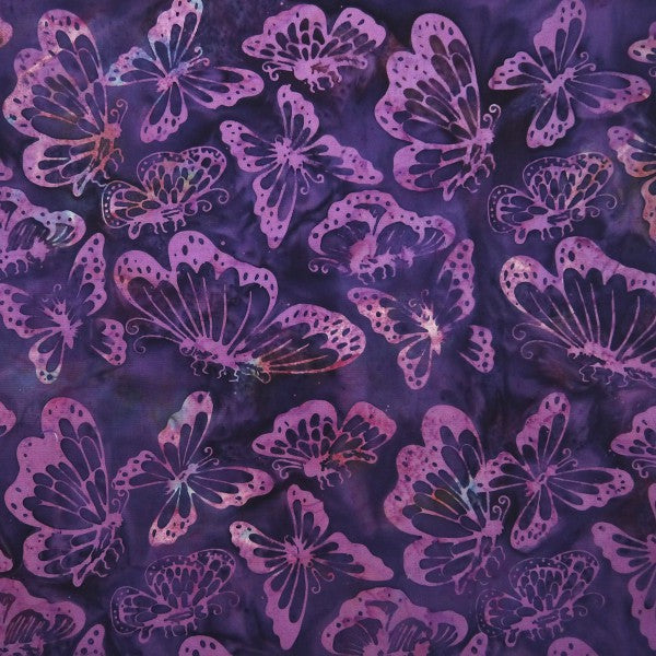 Gondiya Butterflies - Metamorphosis - Batik by Mirah Cotton Fabric