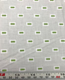 Windham - Oh Clementine - Green Boxes - Cotton Quilting Fabric