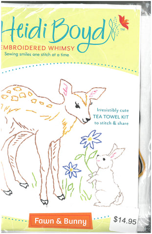 Embroidered Whimsey Tea Towel Kit - Heidi Boyd Design