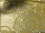 Gold Swirl - Silk Taffeta Fabric