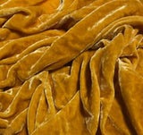 "Golden Beige & White Stripes - Silk Taffeta (54"")"