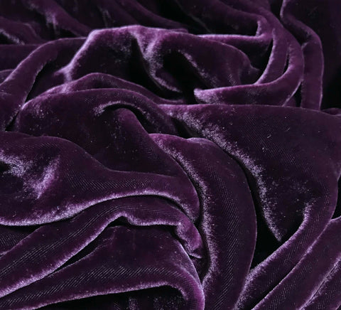 Wine  - Hand Dyed Silk Velvet