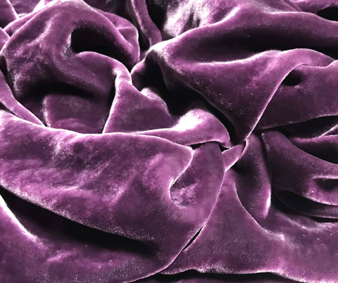 Deep Purple - Hand Dyed Silk Velvet