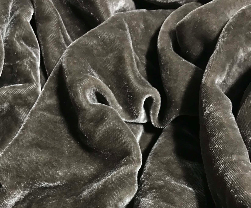 Pewter Gray - Silk Velvet